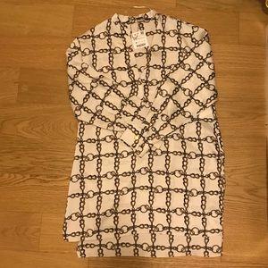 NWT Zara cream chain print shirt